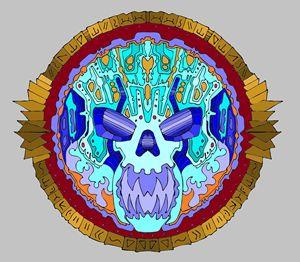 Skull mandalla 420