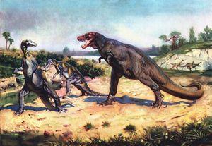 Trachodon & Tyrannosaurus - SPCHQ