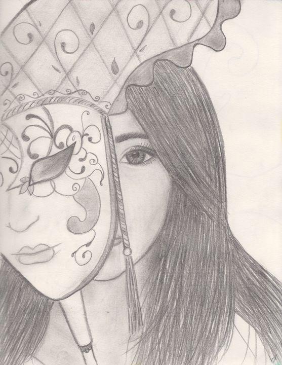 behind the mask brook rakow drawings illustration people