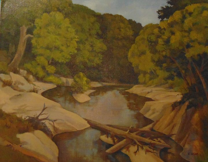 San Jacinto after flood - Bill Harris Art