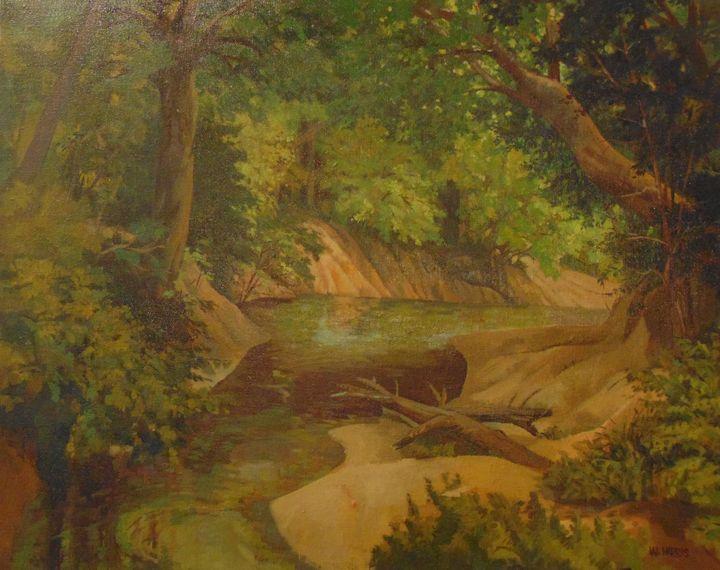 Summer time creek - Bill Harris Art