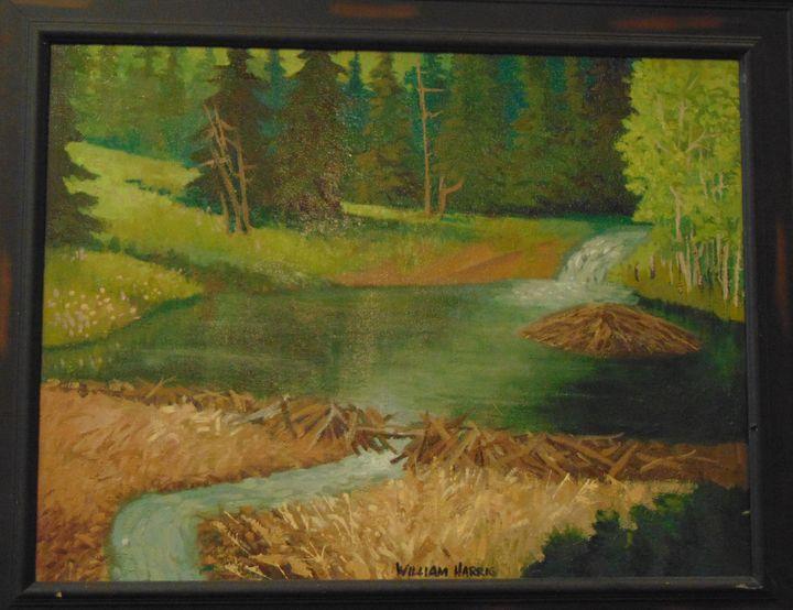Beaver Pond, Colorado - Bill Harris Art