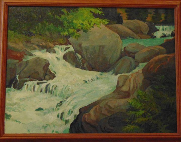 Mountain River - Bill Harris Art