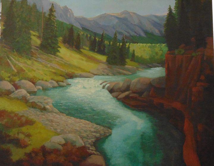 Rocky Mountain Morning - Bill Harris Art