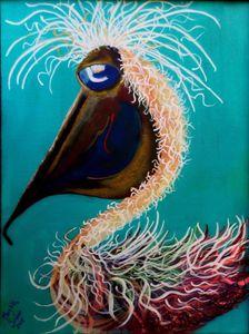 Ms. Peach a colorful Pelican