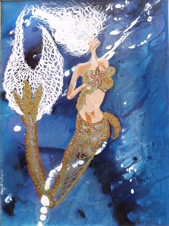 Whimsical Mermaid Print - Fanatic Art MaryElla