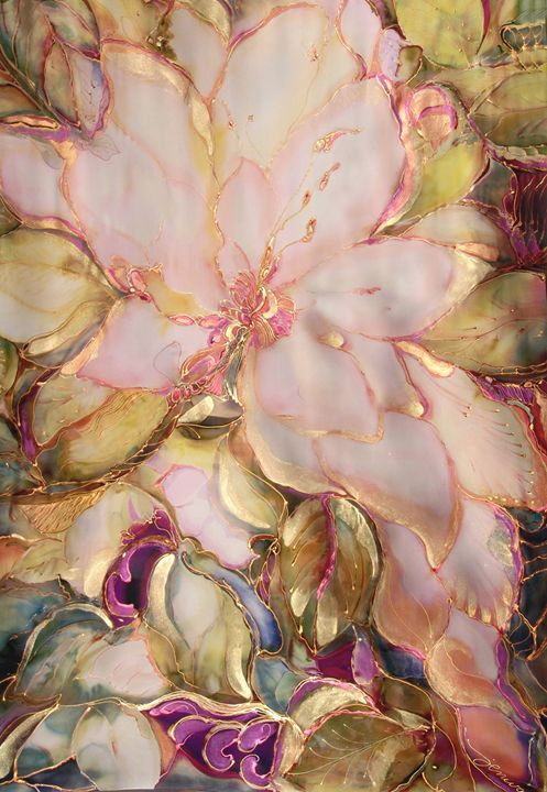 Magnolia - Silk Art Creations by Jenwah
