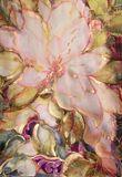 Magnolia silk painting