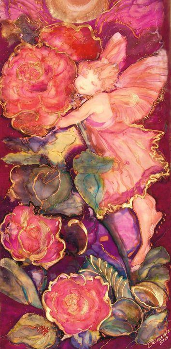 Crimson Angel - Silk Art Creations by Jenwah