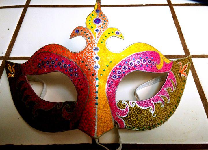 Mardi gras mask - Marie Hammond Art