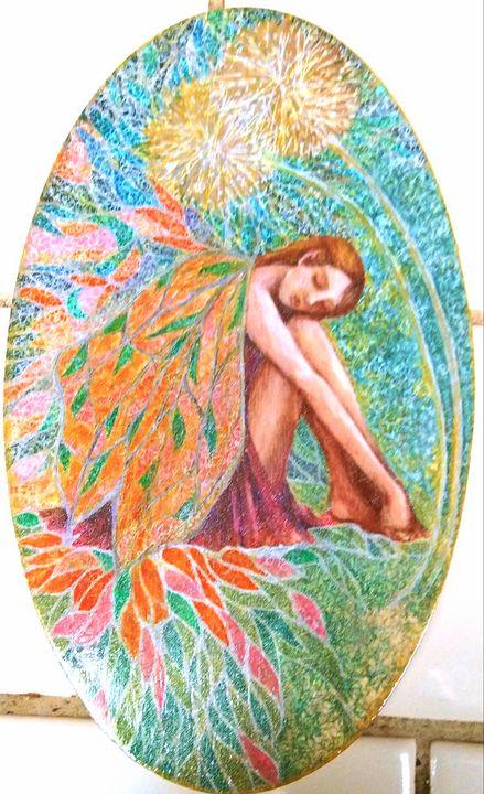 Dandelion fairy - Marie Hammond Art