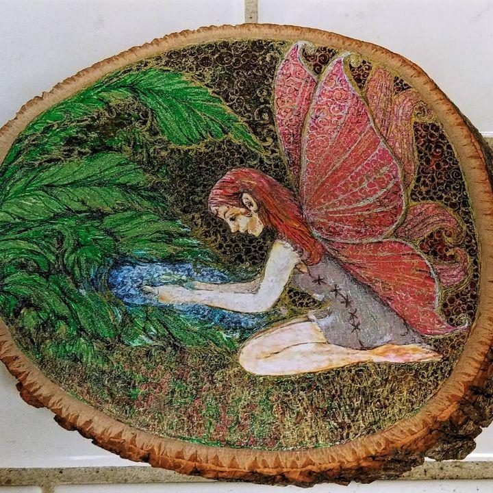 Forest fairy - Marie Hammond Art