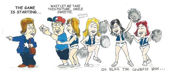 Dallas Cheerleaders - Garcia Cartoon Co