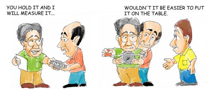 Taking Measures - Garcia Cartoon Co