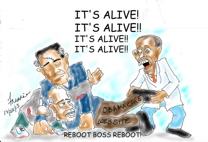 Reboot ObamaCare - Garcia Cartoon Co