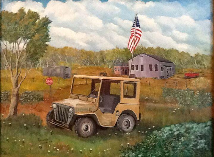 Retired Army Jeep - Garcia Cartoon Co
