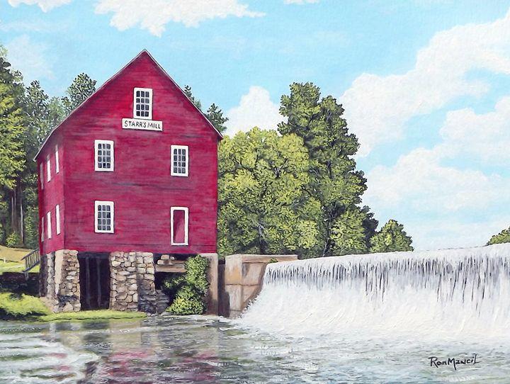 """Starr's Mill"" original $400 - Ron Mancil Art"