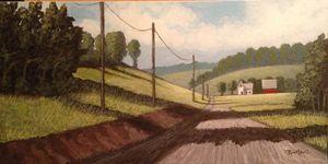 """""""Take the Dirt Road""""  original $100"""