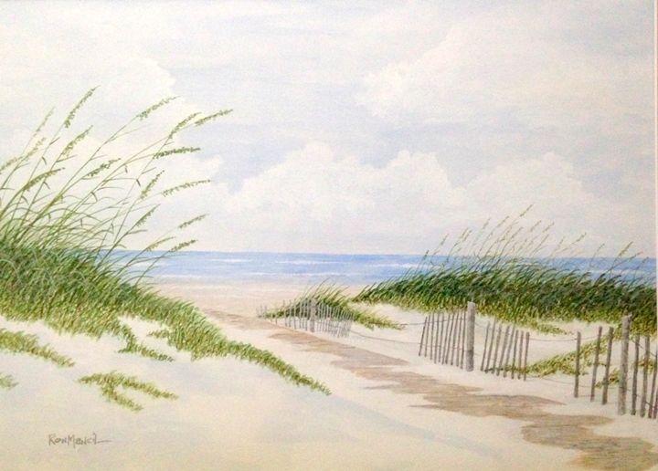 """Beach Boardwalk""   SOLD - Ron Mancil Art"