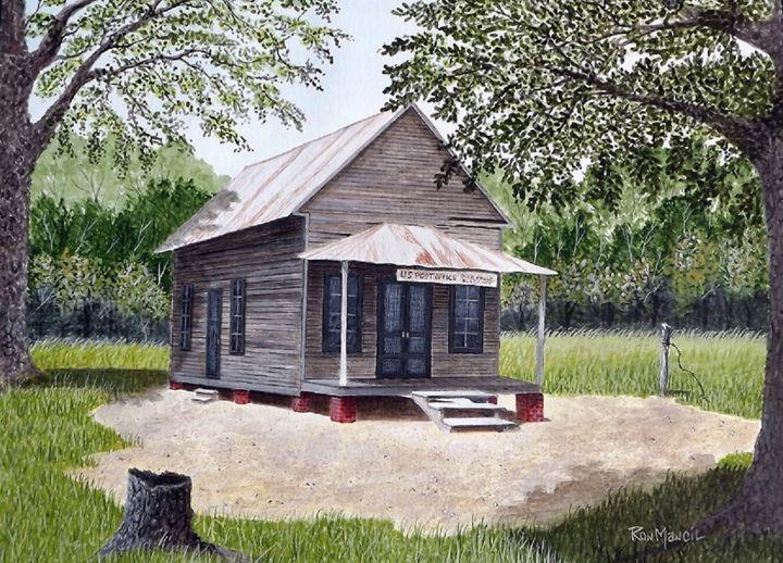 """""""River Falls Post Office"""" NFS - Ron Mancil Art"""