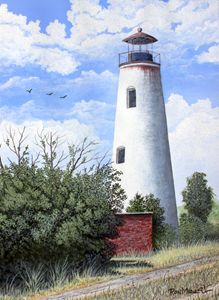 """Sapelo Island Lighthouse"" SOLD - Ron Mancil Art"