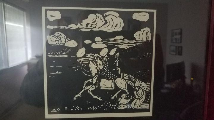 Les Cavalier (The Knight) 1097 - Wassily Kandinsky