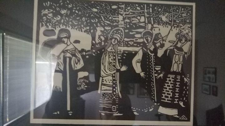 Vasily Kandinsky, Women in the Woods - Wassily Kandinsky