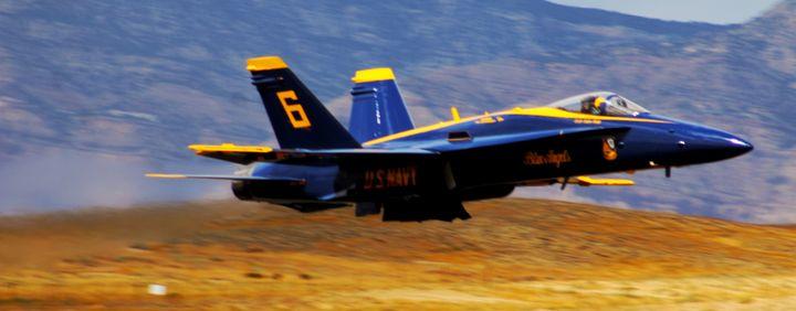 Blue Angel FA-18 - Mile High Aviation Art