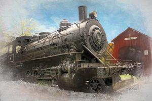 Old Locomotive in Oregon