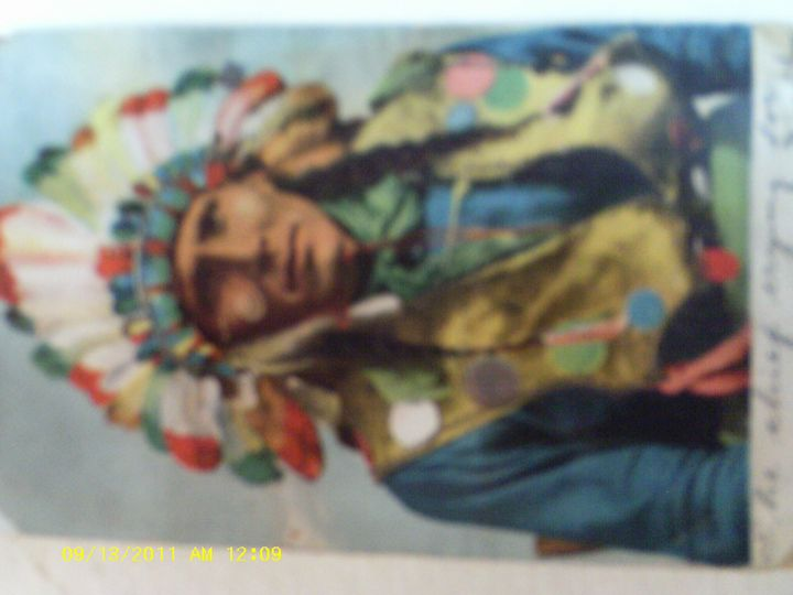 AMERICAN INDIAN CHIEF - The Art Market Gallery