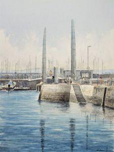 The harbour bridge, Torquay, Devon - Andrew Lucas