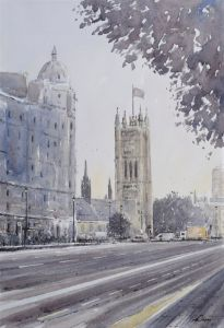 Toward Parliament Square at dusk, Lo - Andrew Lucas