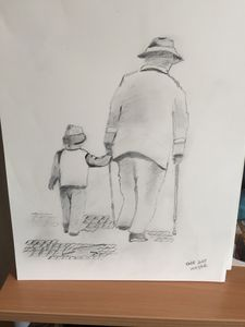 Young Child with his grandad - Almac5