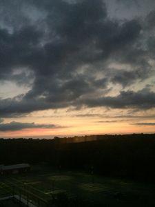 Industrial sun rise