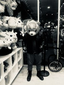 Arcade biker bear