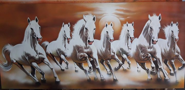 horse painting - artic
