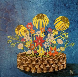 Wildflowers in a basket