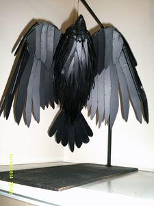 Raven in steel