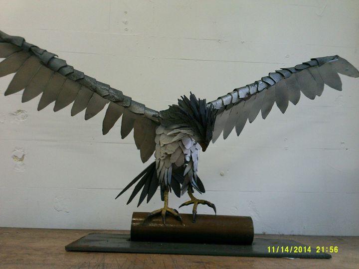 Peregrine Falcon in steel - Galloway Steel Art