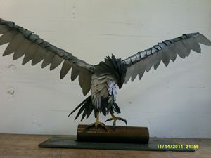 Peregrine Falcon in steel