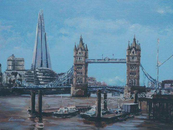 Tower Bridge Shard London - Nadiya Tokarska Fine Art