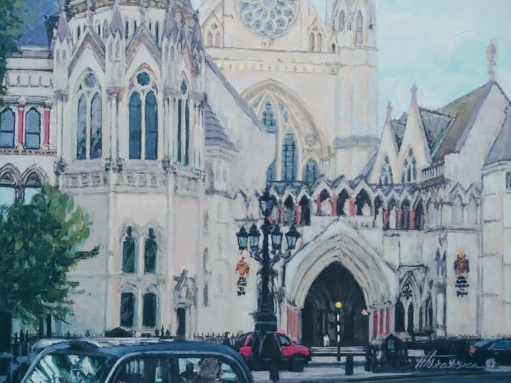 The Royal Courts of Justice Strand - Nadiya Tokarska Fine Art