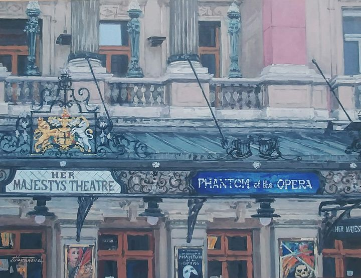 Her Majesty's Theatre The Phantom - Nadiya Tokarska Fine Art