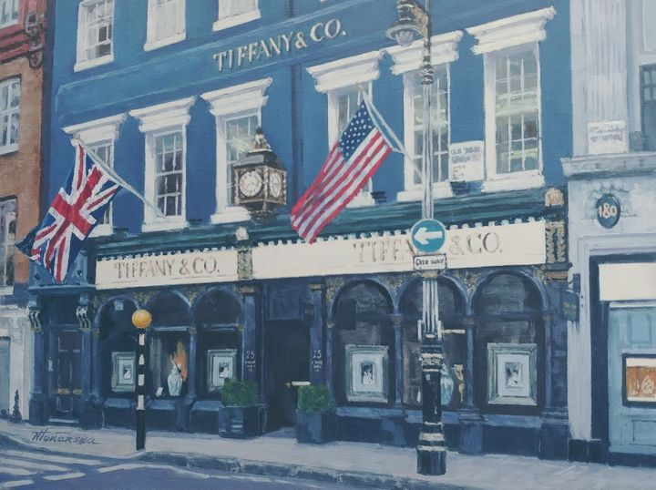 Tiffany&Co Old Bond Street Mayfair - Nadiya Tokarska Fine Art