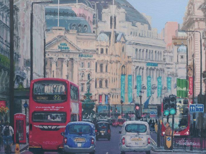 Piccadilly Circus Coventry Street - Nadiya Tokarska Fine Art