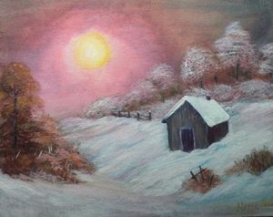 Bob Ross Inspired Painting