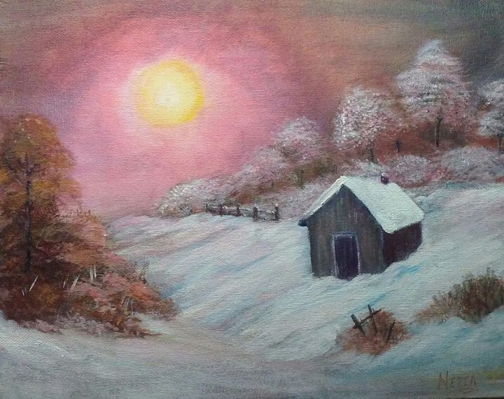 Bob Ross Inspired Painting - Netta's Art