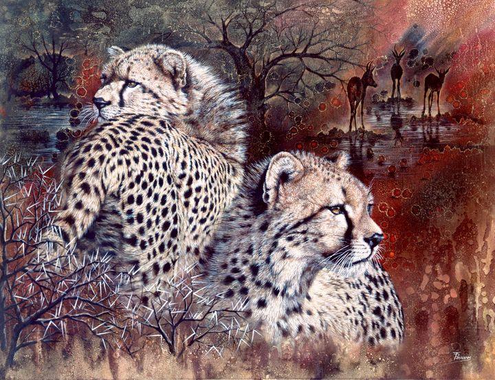 Twin Cheetahs - Trish Perrevos