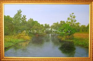 "SIGNED""FLUSS"" SAMUEL MATHEIS Acrylic"