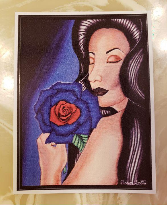 Blue Love Vinyl sticker - Dee13creations